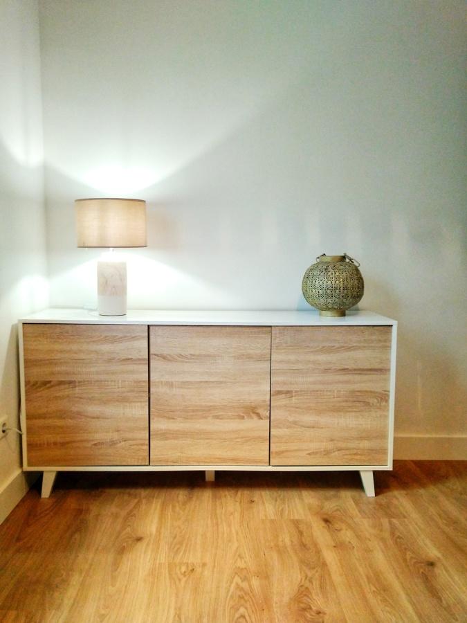 Materiales: suelo laminado que parece madera