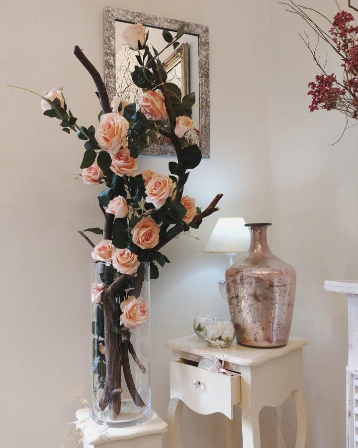 Montaje de flor artifical