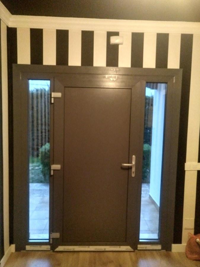 Suministros y montaje puerta entrada.