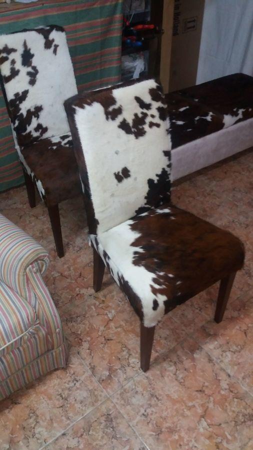 sillas tapizadas piel vaca
