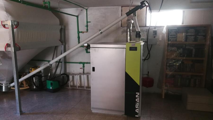 caldera de pellets de 32 kW