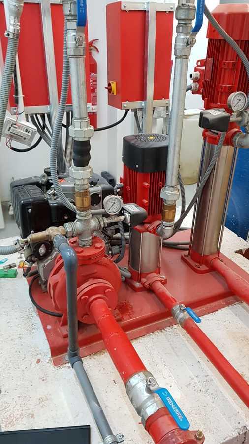 Instalaciones grupos de presión contra incendios