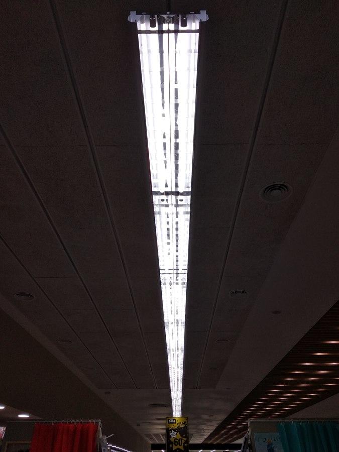 Iluminación lineal suspendida