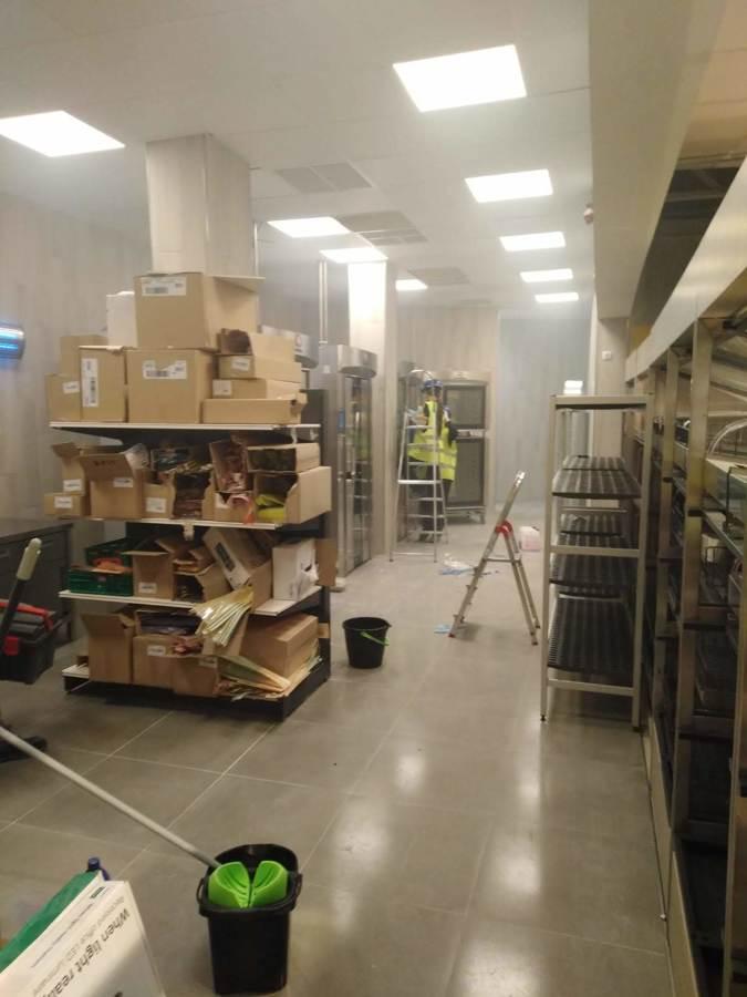 Resultado de las instalaciones del alumbrado LED en mercadona Murcia Mazarron 2