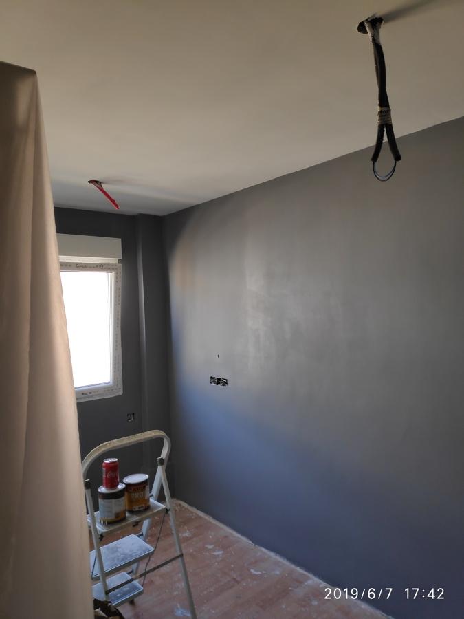 Lijado y acabado pintura gris mate