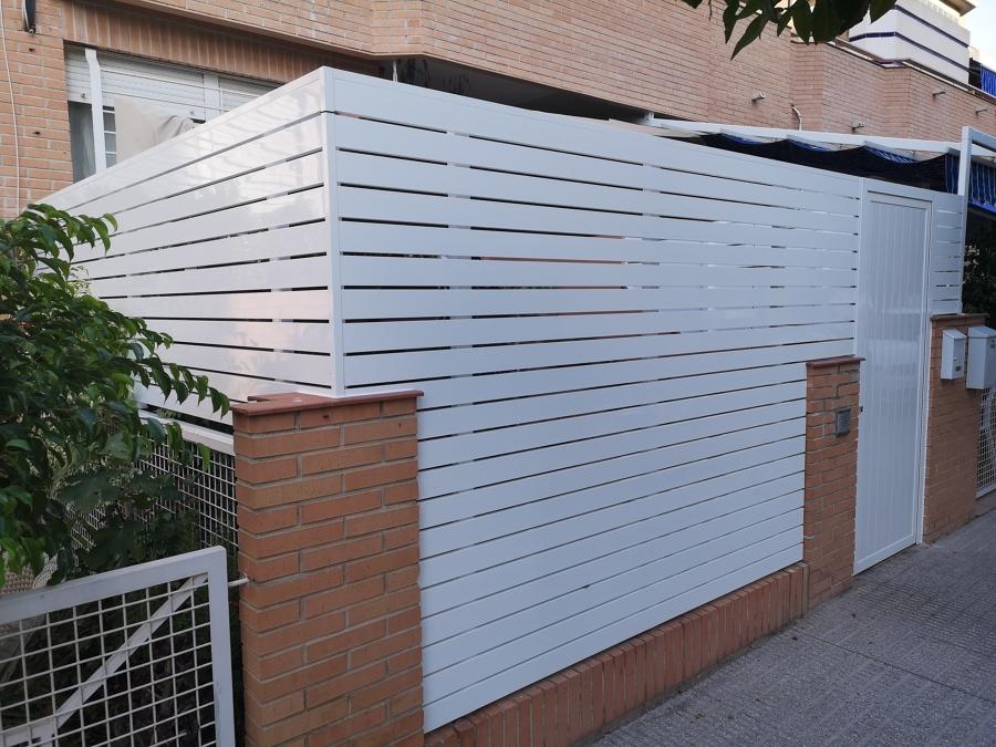 Cerramiento vallado porche - El Palmar -Murcia