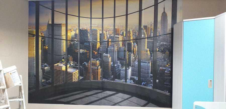 Mural exposición muebles 2