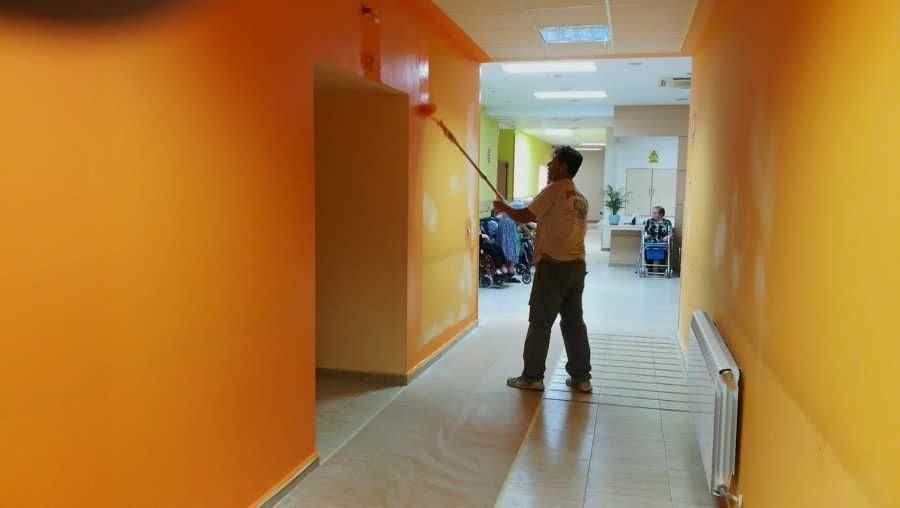 Pintura a color, lavable ,decoración especial interior