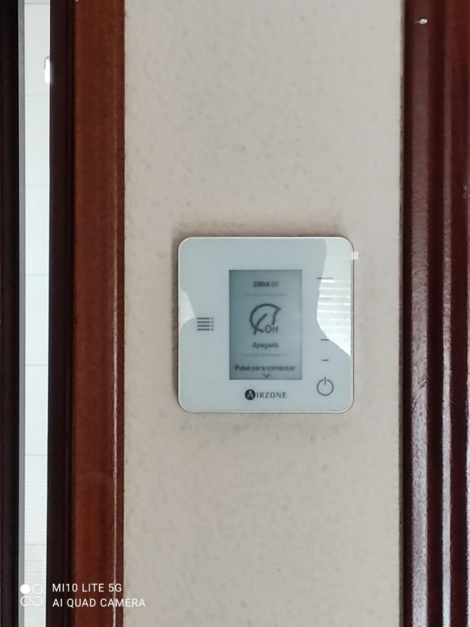 Montaje de termostato Airzone
