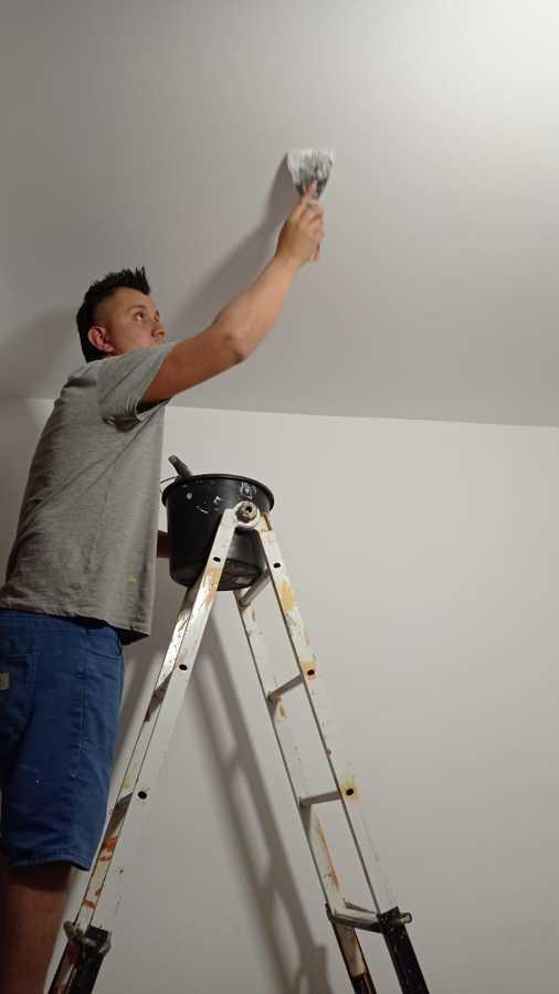 Terminacion de techo pladur