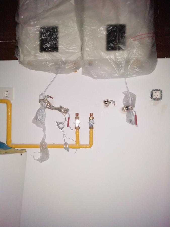 Instalacion de gas y calderas en Lavanderia en calle molinos