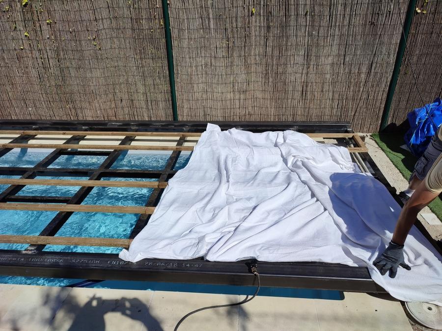 Estructura para cubierta de piscina retractil