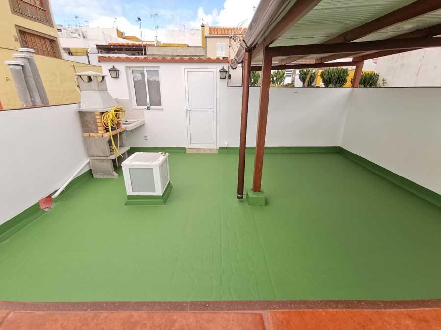 Terraza terminada.
