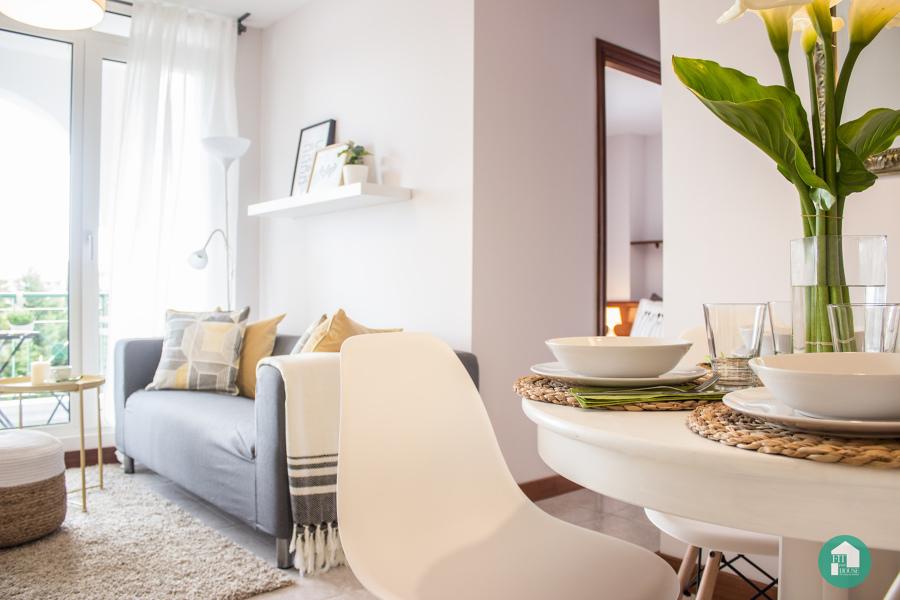 Detalle salón después de estilismo y Home Staging