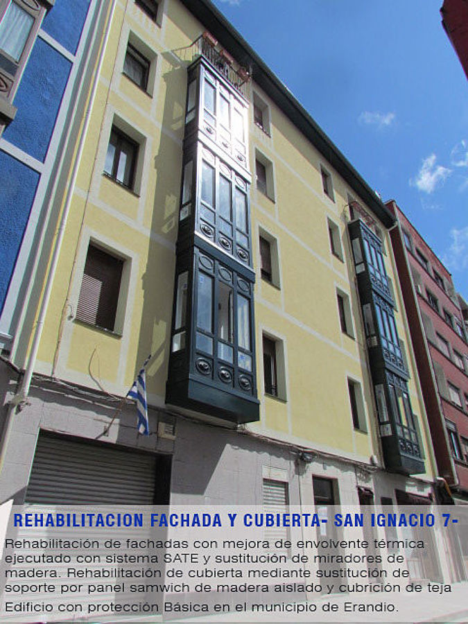 REHABILITACION DE FACHADAS Y CUBIERTA