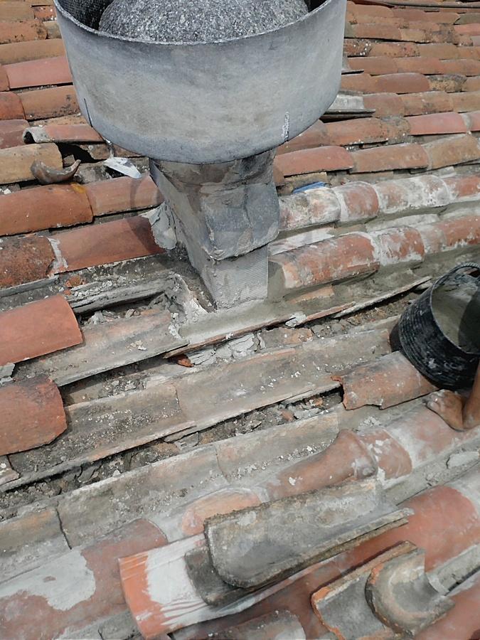 terrado con filtraciones de agua