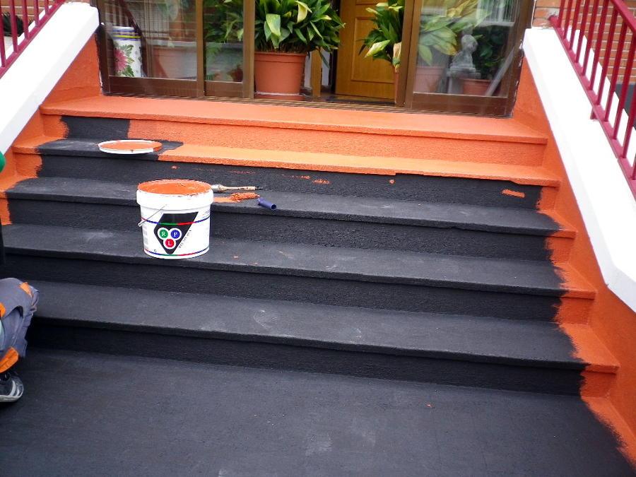 Foto impermeabilizacion de escalera de elite reformas for Tejados y fachadas vizcaya