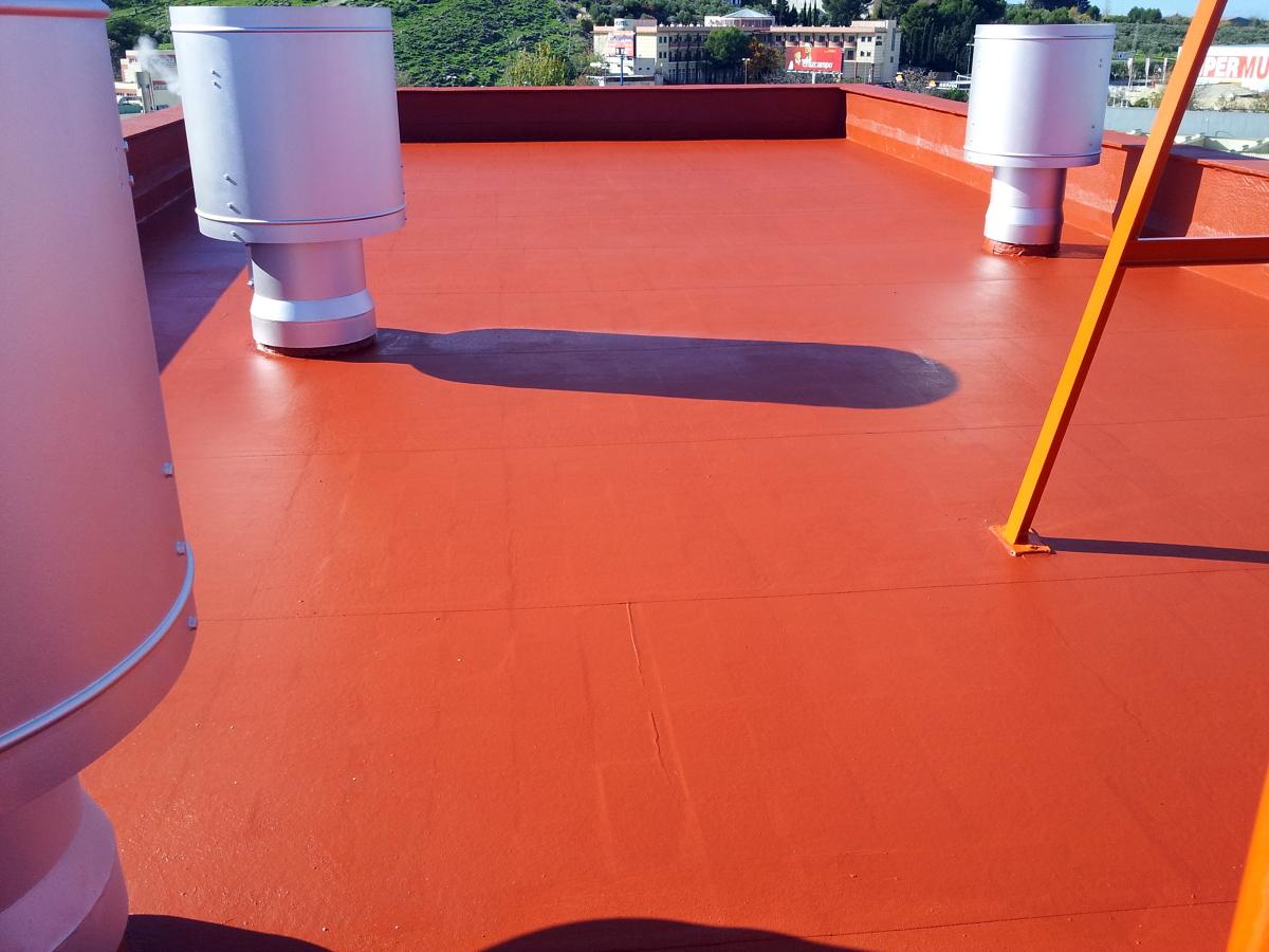 Impermeabilizacion de terraza y pintado de chimeneas