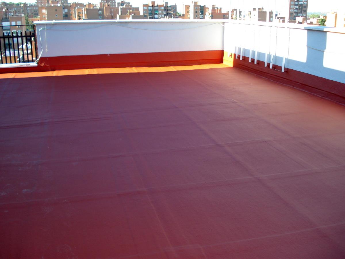 Foto impermeabilizacion en terraza con caucho rojo teja a - Pintura para impermeabilizar terrazas ...