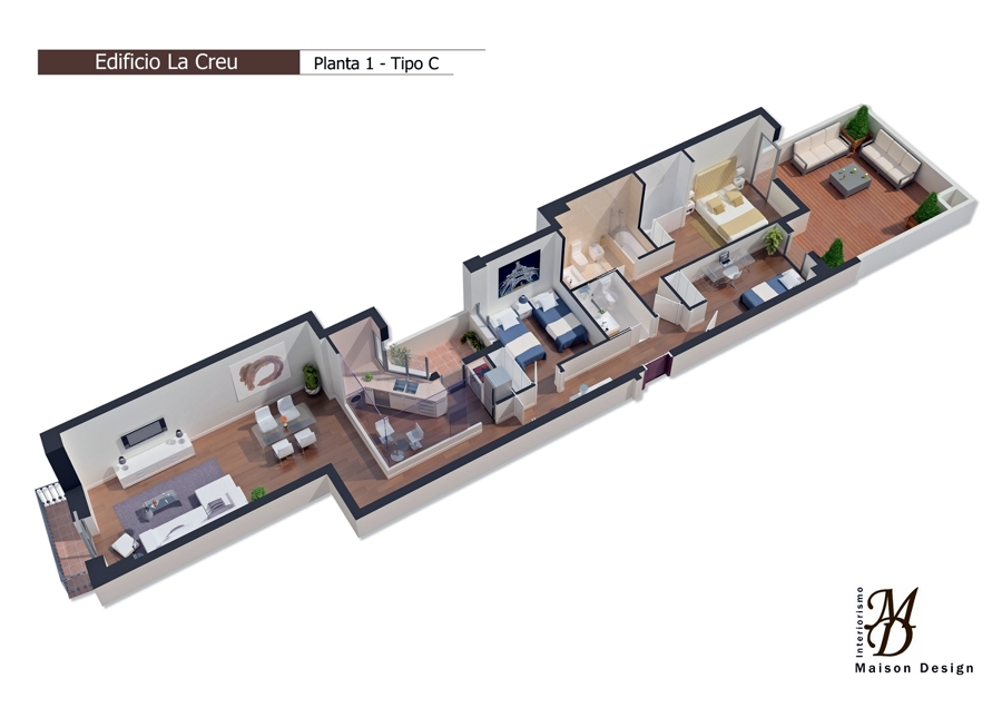 Infografía 3D Promoción Carcaixent