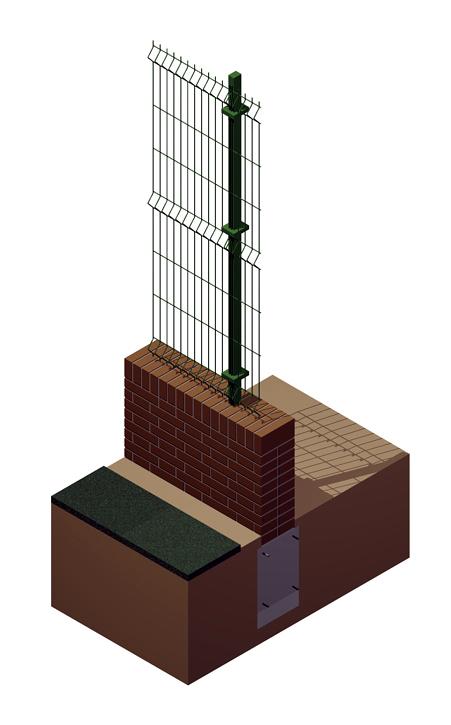Foto infograf a de detalle de secci n tipo de vallado de - Vallado de parcelas ...
