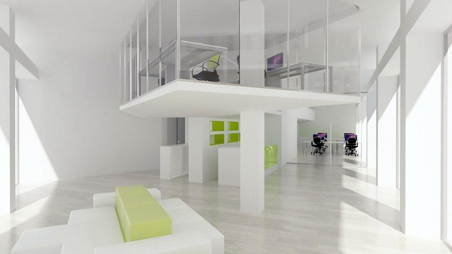 Infografía de espacio para Oficinas