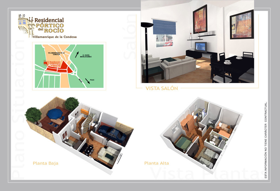 Foto infografias del interior de viviendas en villamanrrique de la condesa sevilla de - Arquitectura tecnica sevilla ...