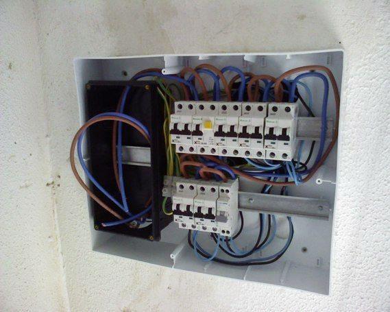 Instalacion caja de Automaticos empotrado