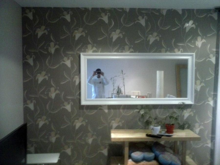Instalacion de papel decorativo + lacado espejo
