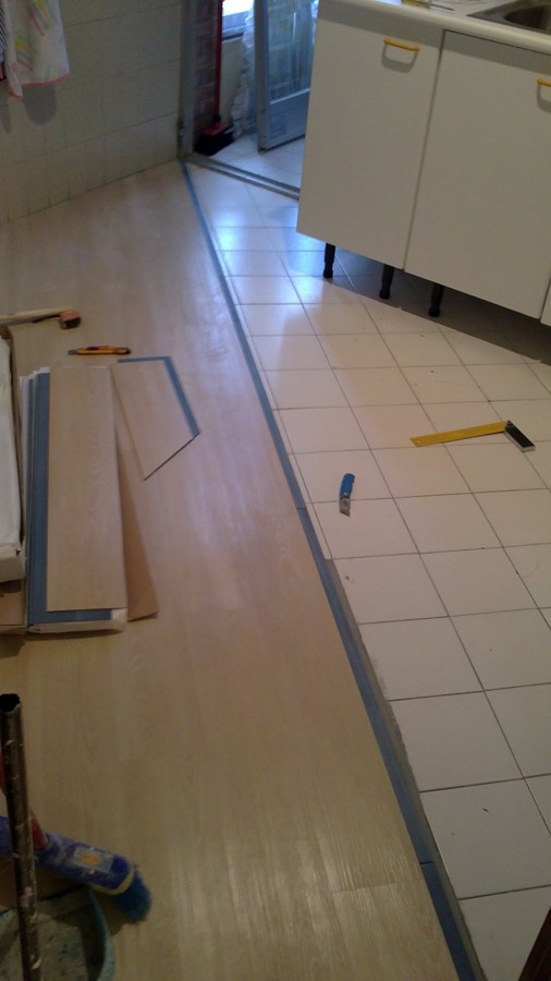 Foto instalaci n de pavimento vinilico en pvc imitacion - Pavimento imitacion madera ...