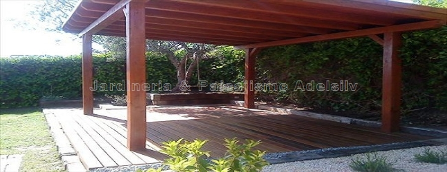 Foto instalacion pergolas porches y tarima para teraza y - Porches para jardin ...