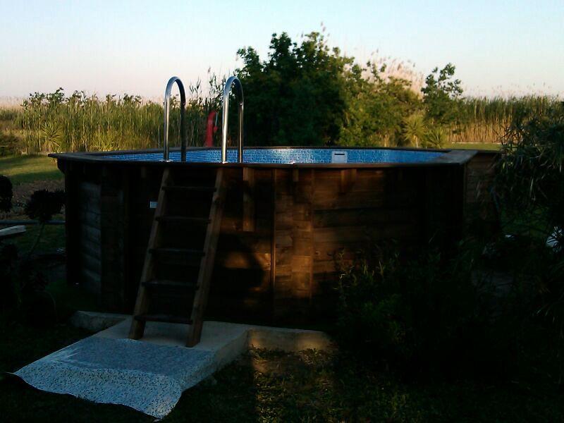 instalacion piscina madera