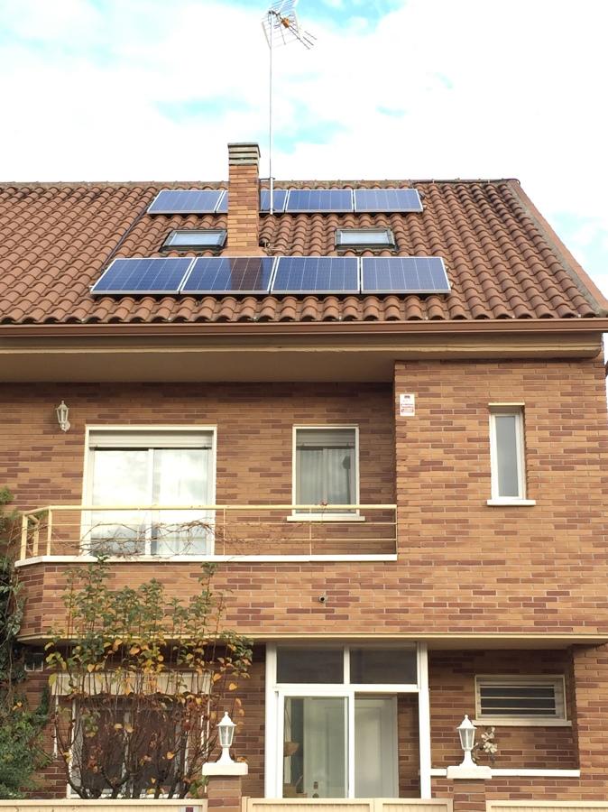 Instalación solar en Villanueva del Pardillo (Madrid)