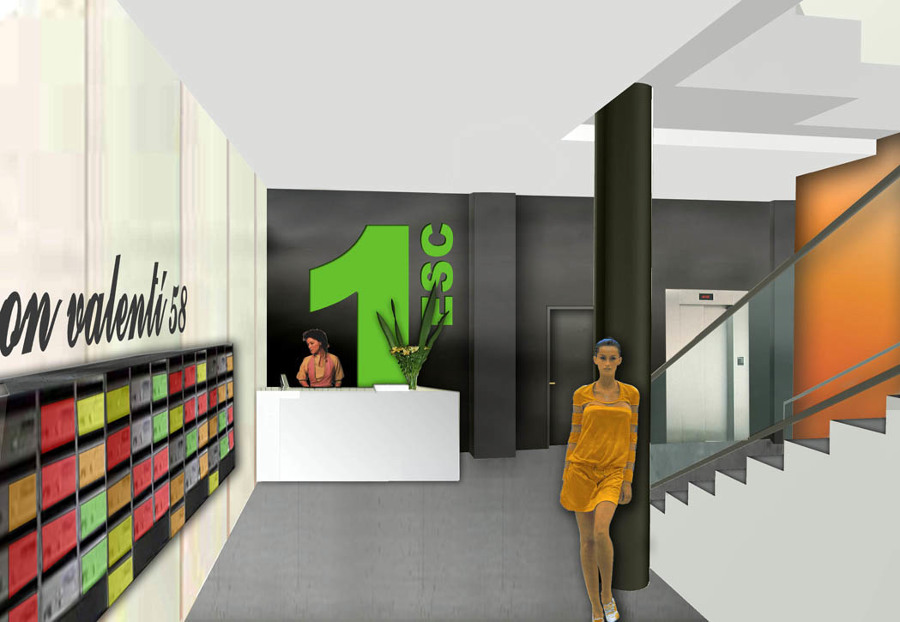 Interior acceso oficinas