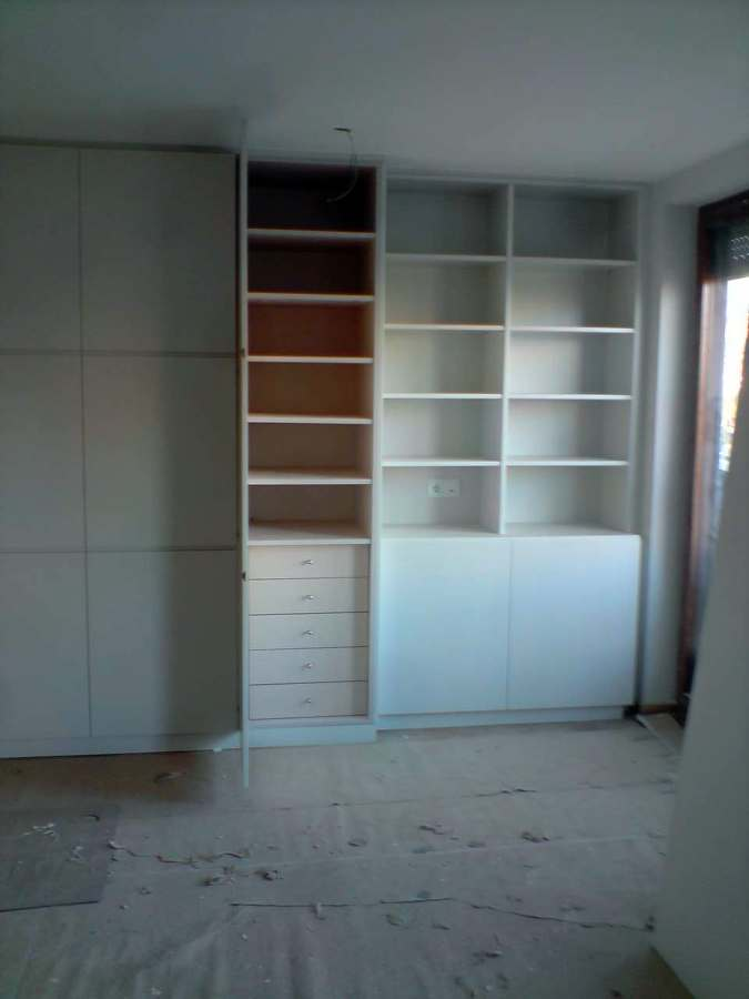 interior armario en melamina
