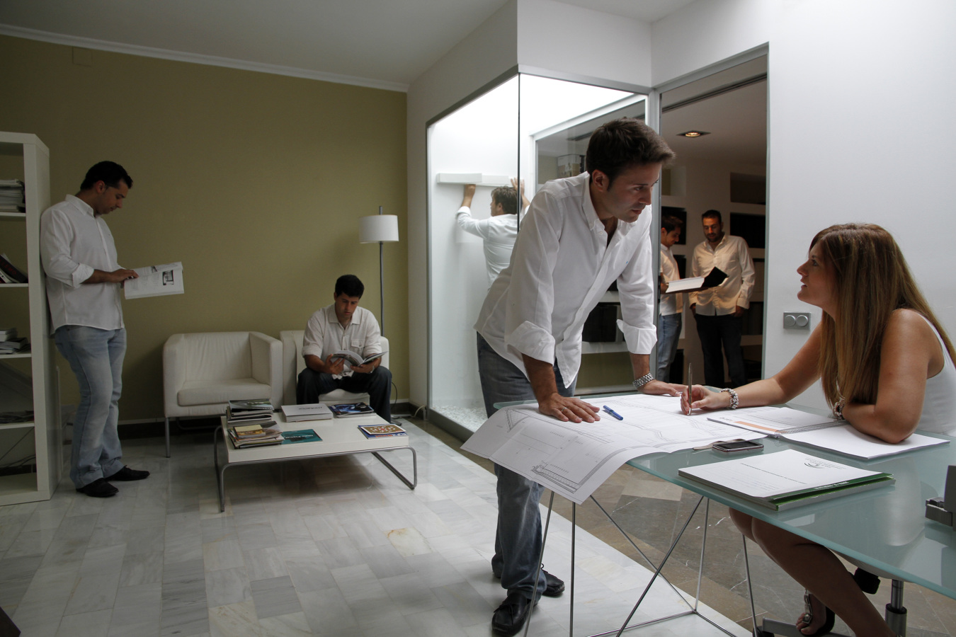 Foto interior estudio dise o de estudio arquitectura dise o 174445 habitissimo - Estudio de interiores ...