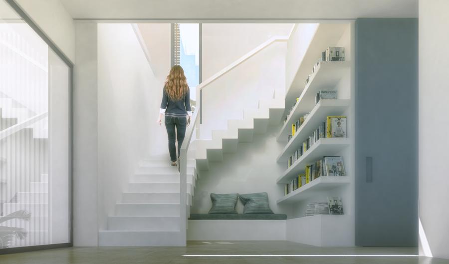 Escalera estilo ibicenco