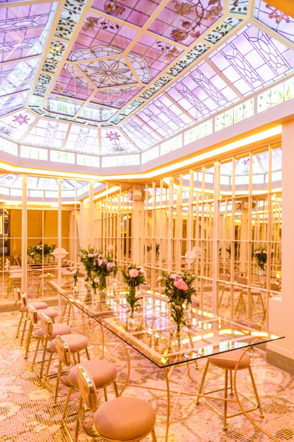 Cúpula de cristal y hierro restaurante Bloom en Madrid