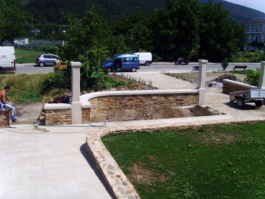 jardín de acceso