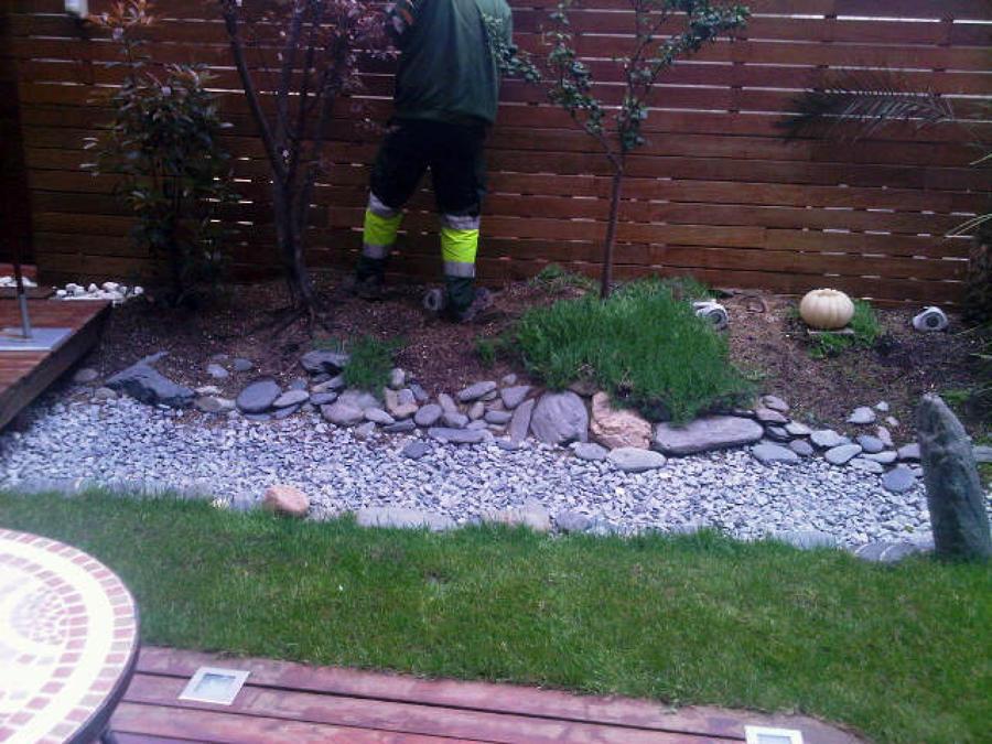 Jardín en proceso de construcción