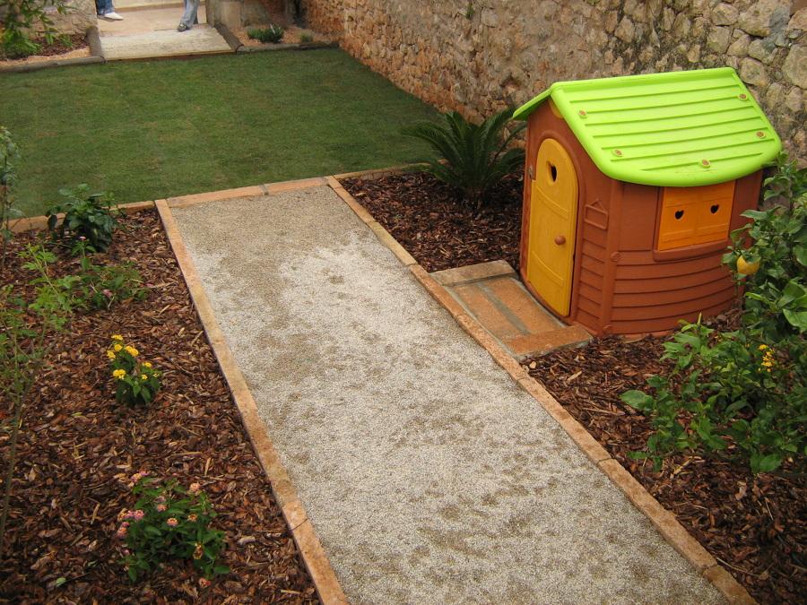 Jardín para una niña en 40 m/2