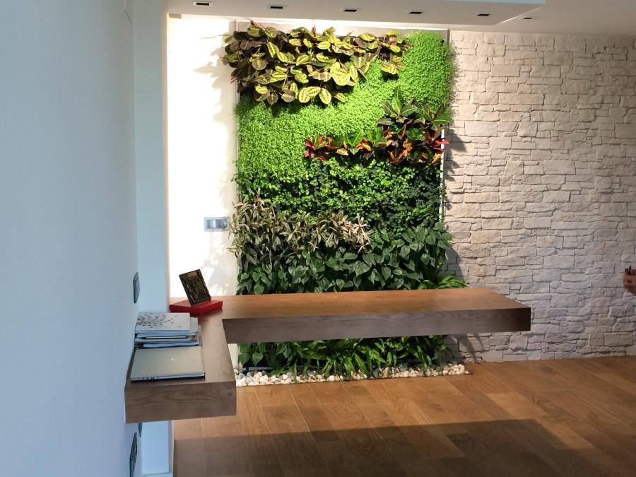 Foto jard n vertical hogar sevilla de terapia urbana for Jardin vertical interior