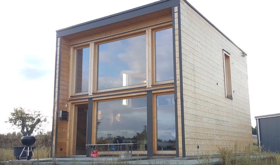Casa de madera: estilo container