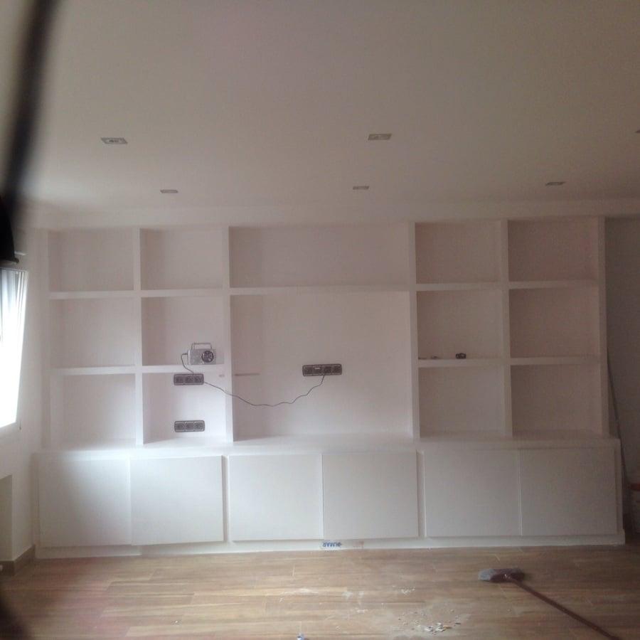 Foto mueble salon en pladur de azero instalaciones y for Muebles de pladur para salon fotos