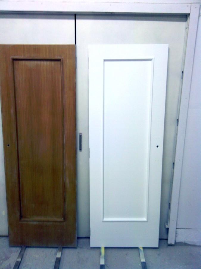 lacado de puerta en blanco