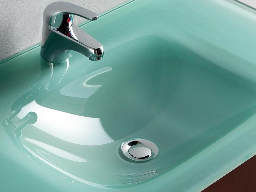 Foto lavabo cristal templado natural 610 810 mm de - Lavabos de cristal de colores ...