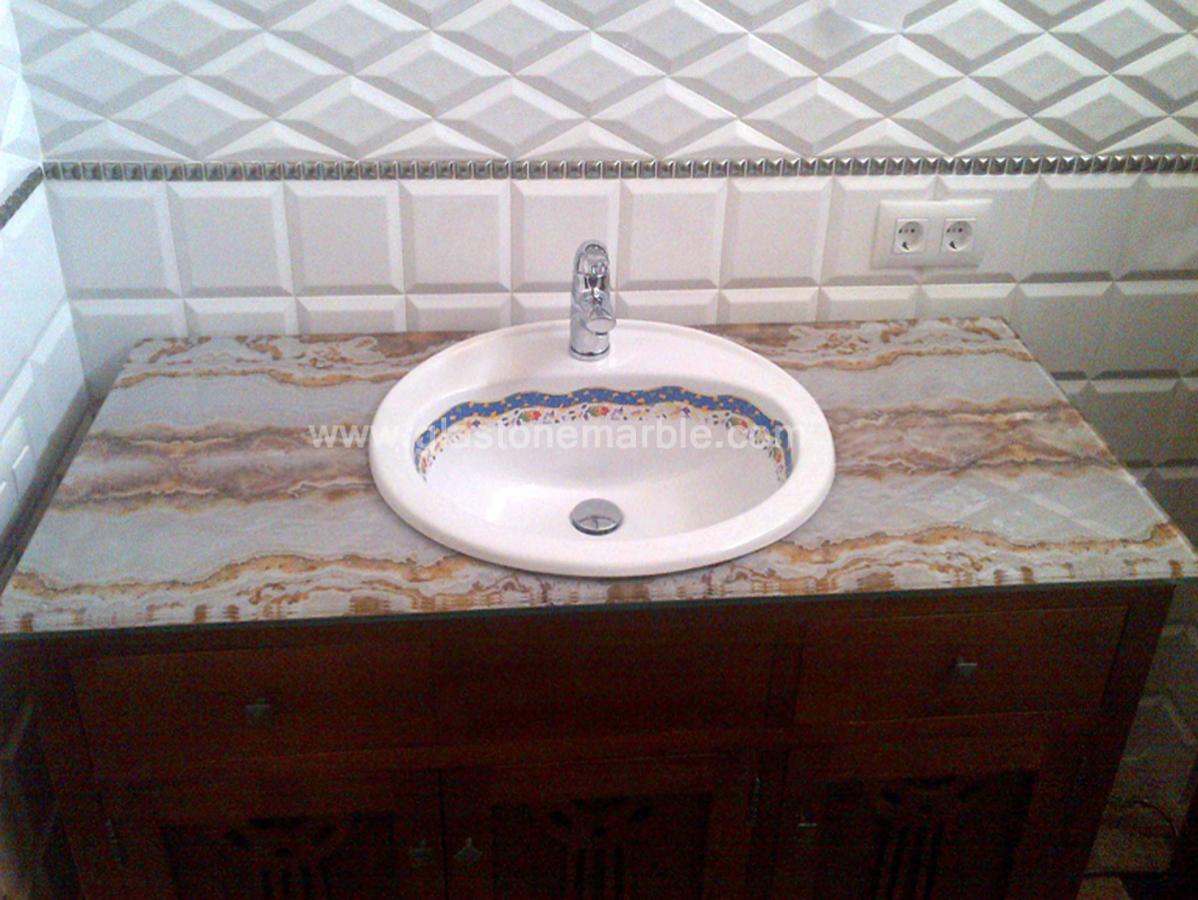 Lavabo de cristal con protección al rayado