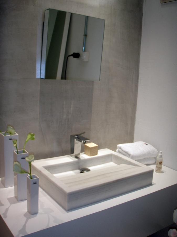 Foto lavabo de m rmol blanco macael de todomarmol 455975 for Marmol blanco real