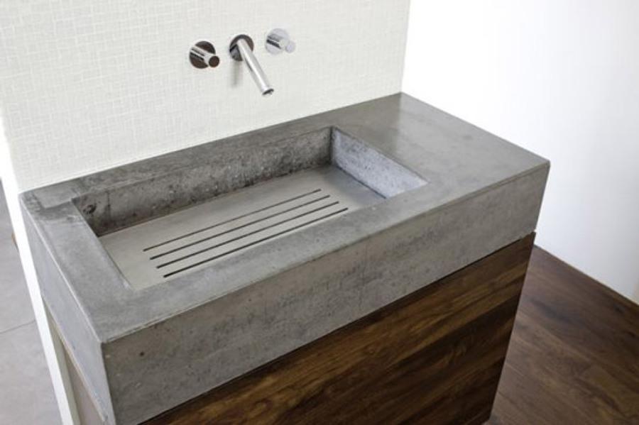 Foto lavabo de microcemento de duchasbarcelona 529852 habitissimo - Encimeras de microcemento ...