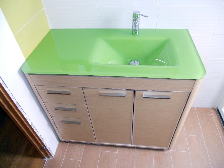 lavabo encimera de cristal
